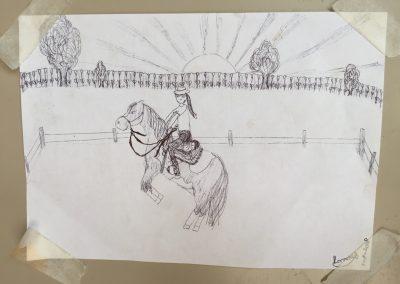 Lonneke tekent